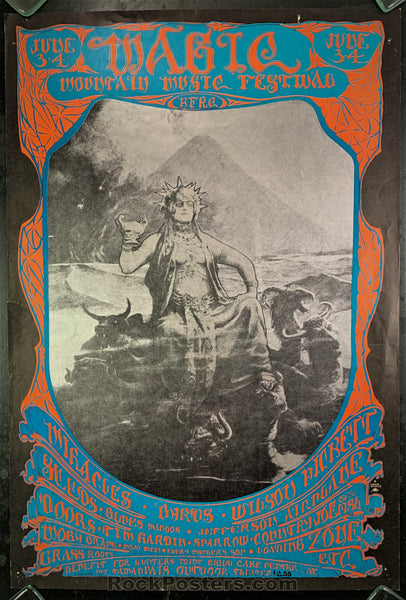 AOR-2.319 - Doors Jefferson Airplane Poster - Magic Mountain - Mt. Tam Amphitheater - Condition - Very Good