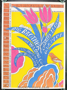 AOR2.342 - Big Brother & The Holding Co. Poster - Continental Ballroom - Condition - Near Mint Minus