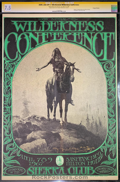 AUCTION - AOR2.365 - Wilderness Conference Mouse Signed OP-1 Poster - Hilton Hotel - Condition - CGC Graded 7.5