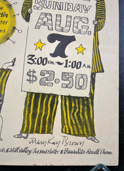 AUCTION - AOR-2.68 - Grateful Dead - Mary Kay Brown Signed - 1966 Poster - Fillmore Auditorium - Excellent