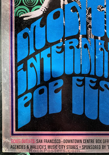 AOR-3.5 - Jimi Hendrix The Who Poster - Monterey Pop Festival - Very Good