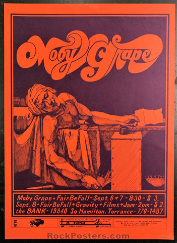AOR-3.86 - Moby Grape Poster - The Bank - Condition - Excellent