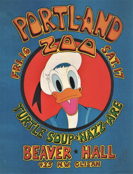 AOR3.111 - Portland Zoo Handbill - Kelley Signed - Beaver Hall - Condition -  Near Mint
