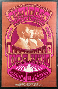 AUCTION - AOR-3.140 - Chambers Brothers - 1967 Poster - Gary Grimshaw Signed - Grande Ballroom - Excellent
