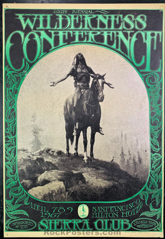 AOR2.365 - Wilderness Conference Sierra Club Type 1 Poster - Hilton Hotel - Condition - Good