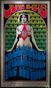 AUCTION - AOR 3.005 - Monterey Pop Festival Jimi Hendrix Experience Poster - Fairgrounds - Condition - Near Mint Minus