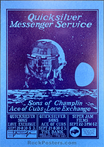 AOR3.089 - Quicksilver Messenger Service Poster - The Bank - Condition - Mint
