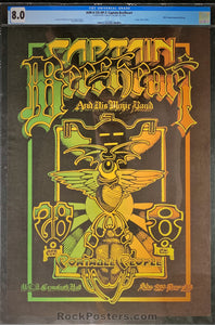 AUCTION - AOR4.125 - Captain Beefheart & His Magic Band Poster - U.C. Irvine - Condition - CGC Graded 8.0