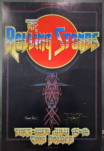 AOR-4.41 - The Rolling Stones - Mouse & Tuten Signed - 1975 Poster - Cow Palace - Excellent