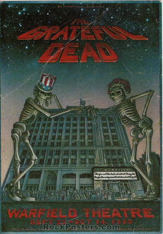 AOR4.045 - The Grateful Dead Handbill - Warfield Theater - Condition - Good