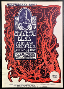 AUCTION - AOR -2.185 - Grateful Dead 1st Anniversary 1968 Poster - Cheese Factory - Excellent