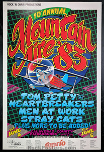 AOR 4.098 - Tom Petty Stray Cats Poster - Mountain Aire '83 -  Condition - Near Mint Minus