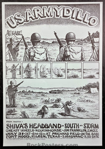 AOR-4.173 - Shiva's Headband - 1971 Poster - Fort Hood - Near Mint