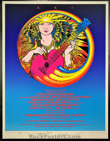 AUCTION - Artist Rights Today - Jerry Garcia 1989 Poster - BIG FIVE SIGNED - Excellent