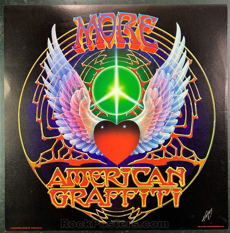 AUCTION - Alton Kelley Collection - More American Graffiti 1978 Poster - Kelley Signed - Condition - Near Mint Minus