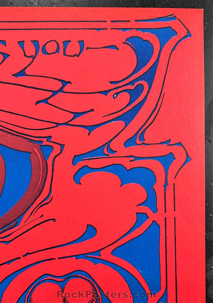 AUCTION - AOR-3.65 - The Who 1969 Rick Griffin Poster - Hollywood Palladium - Near Mint