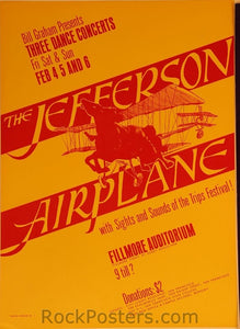 BG1 - Jefferson Airplane Poster - 3rd print - Fillmore Auditorium (04-Feb-66) Condition - Excellent