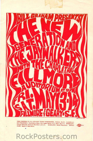 BG6 - New Generation Handbill - Fillmore Auditorium (13-May-66) Condition - Excellent