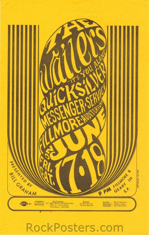 BG11 - Wailers Handbill - Fillmore Auditorium (17-Jun-66) Condition - Excellent