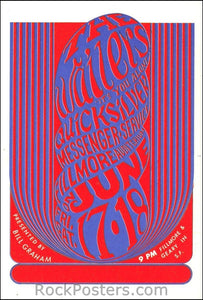 BG11 - Wailers Postcard - Fillmore Auditorium (17-Jun-66) Condition - Mint