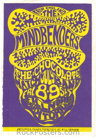 BG16 - Mindbenders Handbill - Fillmore Auditorium (08-Jul-66) Condition - Near Mint