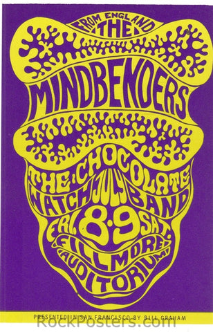 BG16 - Mindbenders Postcard - Fillmore Auditorium (08-Jul-66) Condition - Mint