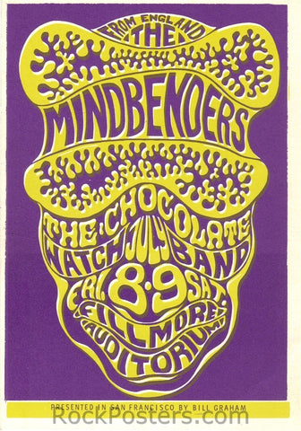 BG16 - Mindbenders Postcard - Fillmore Auditorium (08-Jul-66) Condition - Near Mint