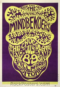 BG16 - Mindbenders Poster - Fillmore Auditorium (08-Jul-66) Condition - Excellent