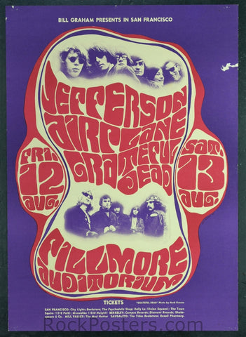 BG23 - Grateful Dead Poster - Fillmore Auditorium (12&13-Aug-66) Condition - Excellent