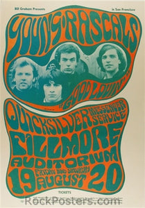 BG24 - The Young Rascals Poster - Fillmore Auditorium (19-Aug-66) Condition - Very Good
