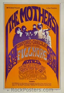 BG27 - Mothers of Invention Poster - Fillmore Auditorium (09-Sep-66) Condition - Excellent