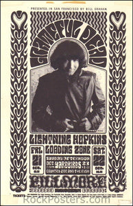 BG32 - The Grateful Dead Handbill - Fillmore Auditorium (21-Oct-66) Condition - Excellent
