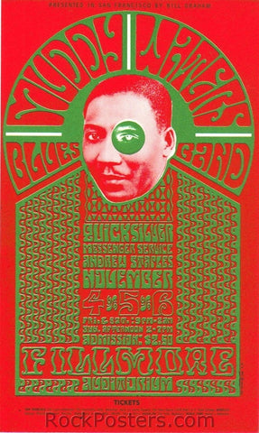 BG35 - Muddy Waters Handbill - Fillmore Auditorium (04-Nov-66) Condition - Excellent
