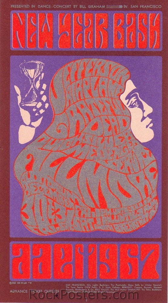 BG37 - Jefferson Airplane Handbill - Fillmore Auditorium (30-Dec-66) Condition - Near Mint
