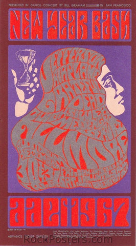 BG37 - Jefferson Airplane Handbill - Fillmore Auditorium (30-Dec-66) Condition - Excellent