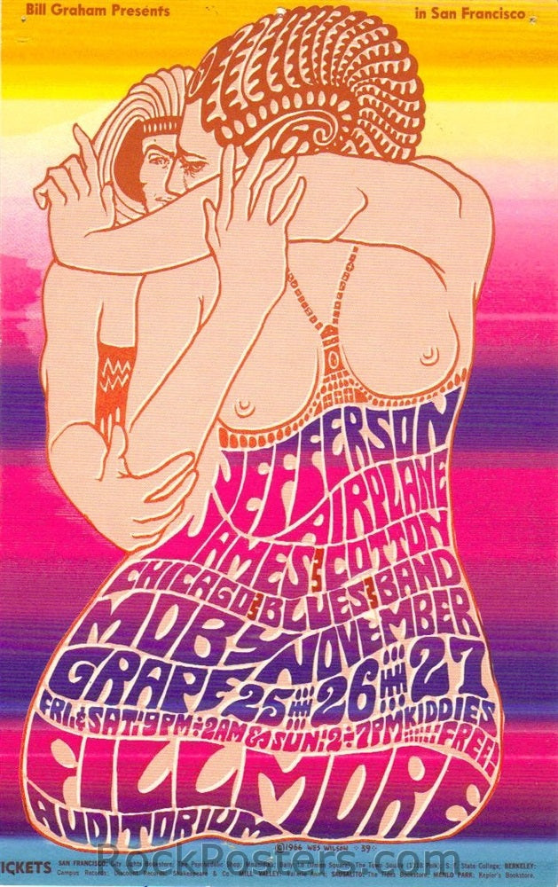 BG39 - Jefferson Airplane Handbill - Fillmore Auditorium (25-Nov-66) Condition - Excellent