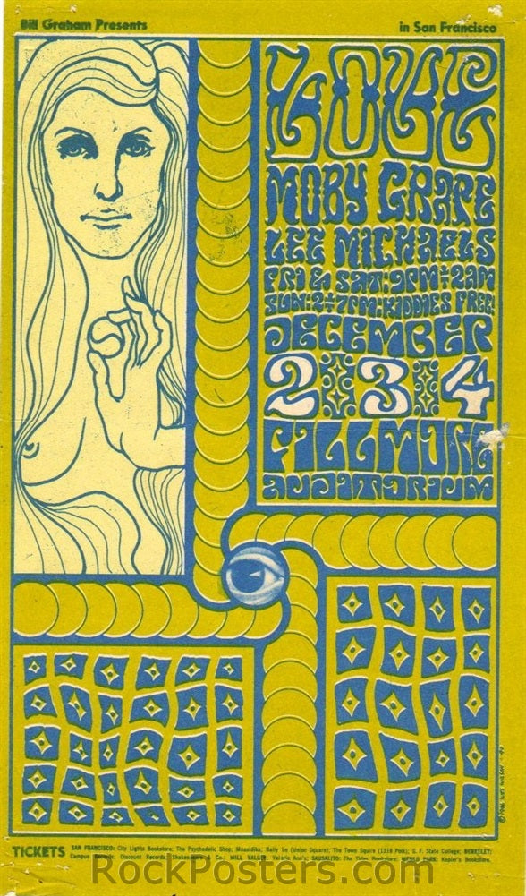 BG40 - Love Handbill - Fillmore Auditorium (02-Dec-66) Condition - Excellent