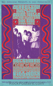 BG42 - Jefferson Airplane Handbill - Fillmore Auditorium (16-Dec-66) Condition - Excellent