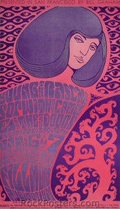 BG44 - The Young Rascals Poster - Fillmore Auditorium (06-Jan-67) Condition - Excellent