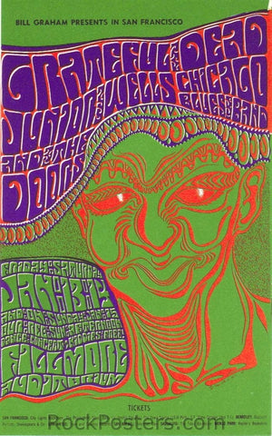 BG45 - The Grateful Dead Handbill - Fillmore Auditorium (13-Jan-67) Condition - Excellent