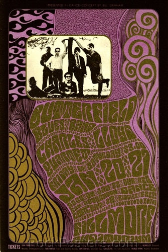 BG46 - Butterfield Blues Band Postcard - Fillmore Auditorium (20-Jan-67) Condition - Excellent