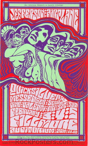 BG48 - Jefferson Airplane Handbill - mailer - Fillmore Auditorium (03-Feb-67) Condition - Excellent