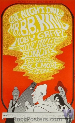 BG52 - B.B. King Poster - Fillmore Auditorium (26-Feb-67) Condition - Near Mint