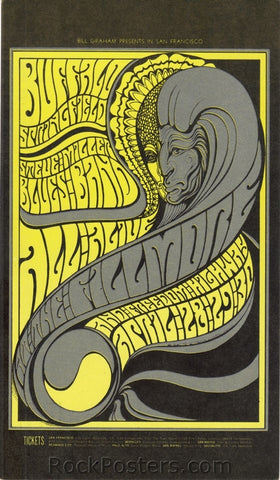 BG61 - Buffalo Springfield Post Card - Fillmore Auditorium (28-Apr-67) Condition - Mint