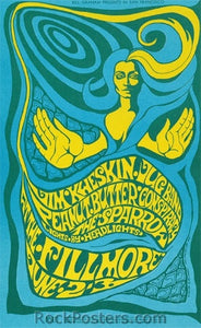 BG66 - Jim Kweskin Poster - Fillmore Auditorium (02-Jun-67) Condition - Near Mint