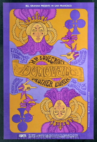 BG94 - Donovan Poster - Fillmore Auditorium (Nov- 23-25, 1967) Condition - Near Mint