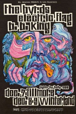 BG96 - The Byrds Poster - Fillmore Auditorium (07-Dec-67) Condition - Excellent