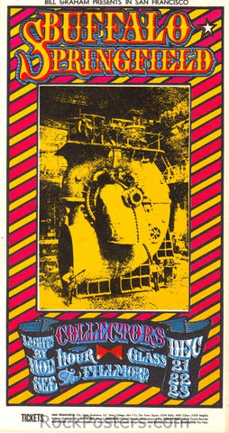 BG98 - Buffalo Springfield Postcard - Fillmore Auditorium (21-Dec-67) Condition - Mint