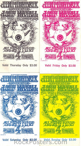 BG105 - Jimi Hendrix Experience Ticket Set - Fillmore Auditorium (01-Feb-68) Condition - Mint