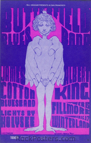 BG107 - Butterfield Blues Band Postcard - Fillmore Auditorium (15-Feb-68) Condition - Mint